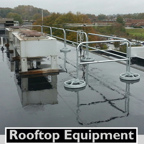 ROOFTOP EQUIPMENT GUARDING WITH SRC 360 MOBILE SAFETY RAILING