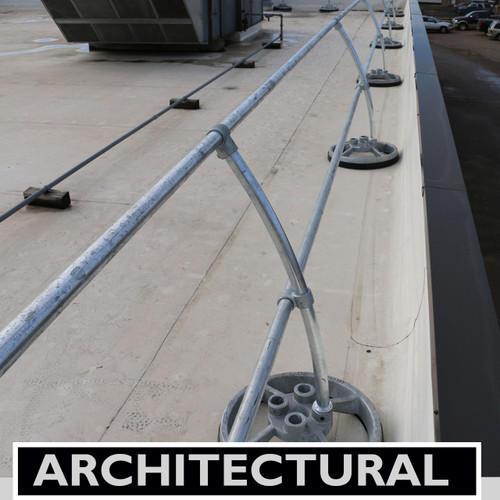 Accu Fit Mobile Guardrail With Architectural Curved
