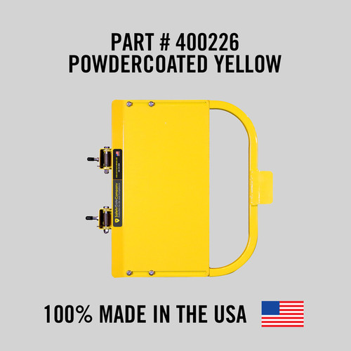 """Self-Closing Gate For Flat Bar or Wall Mount 33-39"""" (Safety Yellow)"""