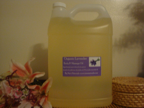 Organic Lavender Body & Massage Oil 128oz/Gallon  (2- Half Gallons)