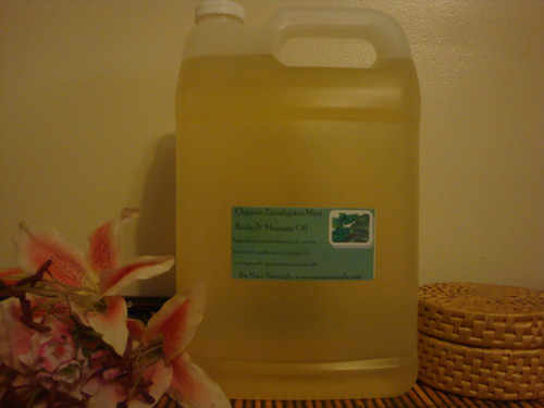 Organic Eucalyptus Mint Body & Massage Oil 128oz/1 Gallon Jug