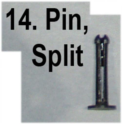 14: PIN, split, bush, axis side levers