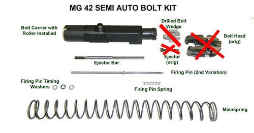 BRP Second Pattern Semi Auto Bolt Assembly (WITHOUT HEAD)