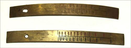 STRIP, range scale (brass)