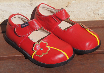Tipsie Toes Tanner Red Leather Shoe