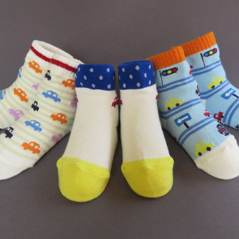 Ma Mer 3 Pack Socks Auto 1 to 3 years