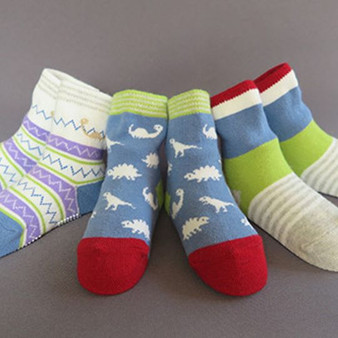 Ma Mer 3 Pack Socks Dino 1 to 3 years