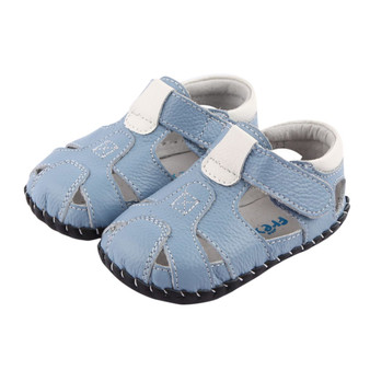 """Freycoo """"Breezy"""" Blue Leather Soft Sole Sandals"""