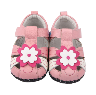 """Freycoo """"Sweet Pea"""" Pink Leather Soft Sole Shoes"""