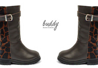 Buddy Jungle Brown Leather Boots