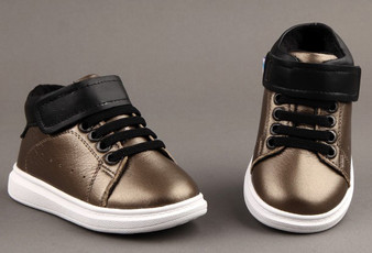 "Freycoo ""Smooth"" Gold Leather Hi top Shoes"