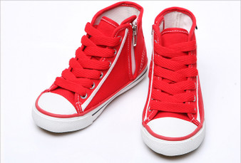 EZ Shoes Red Rain High Tops Sneakers