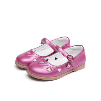 "Snoffy ""Diamonte"" Rose Leather Shoes"