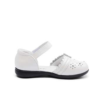 "Snoffy ""Flossi"" White Leather Shoes"