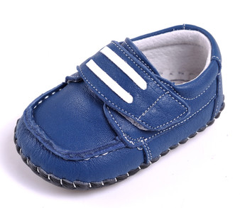 "Caroch ""Adam"" Blue Leather Soft Sole Shoes"