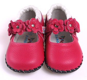 "Caroch ""Wonder"" Hot Pink Leather Soft Sole Shoes"