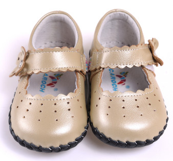 "Caroch ""Angelic"" Gold Leather Soft Sole Shoes"
