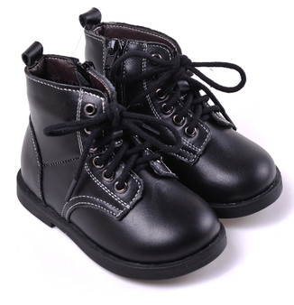 "Caroch ""Romper"" Black Leather Boots"