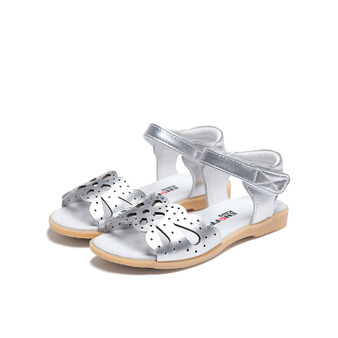 "Snoffy ""Eden"" Silver Leather Sandals"