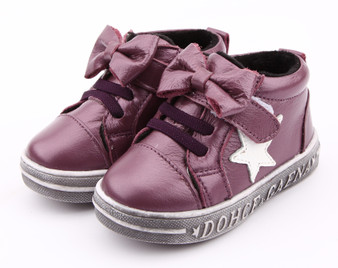 "Freycoo ""Noni"" Purple Leather Hi top Shoes"