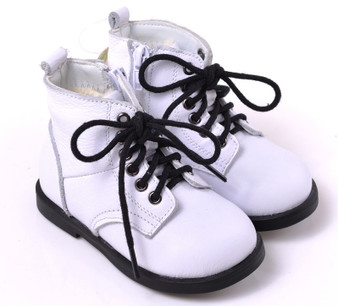 "Caroch ""Romper"" White Leather Boots"