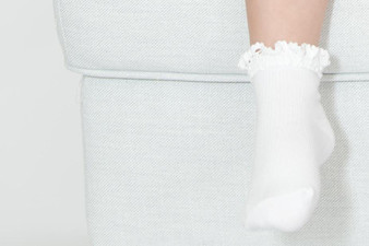 Ma Mer Girls 2 Pack Socks White and Oatmeal