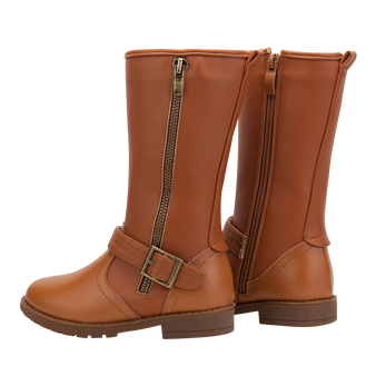 "TS ""Lacie"" Caramel Leather Boots"