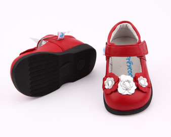 """Freycoo """"Rosie"""" Red Leather Shoes"""