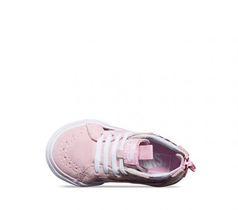 Vans Girls SK-8 Metallic Heart Pink  Toddler High Tops US4 only