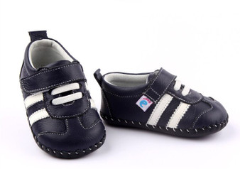 """Freycoo """"Sneaky"""" Navy Leather Soft Sole Shoes"""