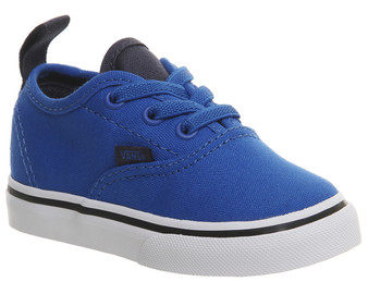 Vans Authentic Elastic Lace Imperial Blue Toddler Shoes US4 only