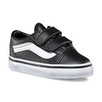 Vans Old Skool V Black Leather Toddler Shoes US5 & 6 only