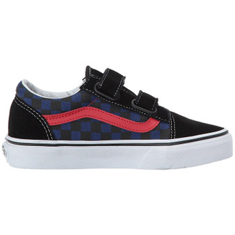Vans Old Skool V Checkerboard Black/Blue Kids Shoes