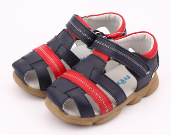 """Freycoo """"Max"""" Navy Leather Sandals"""
