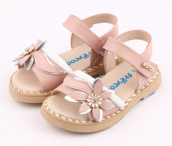 "Freycoo ""Felicity"" Pink Leather Sandals"