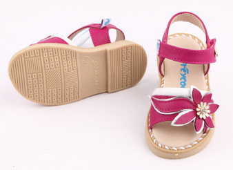 "Freycoo ""Felicity"" Hot Pink Leather Sandals"