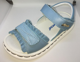 "Freycoo ""Deccy""  Blue leather girls sandals"