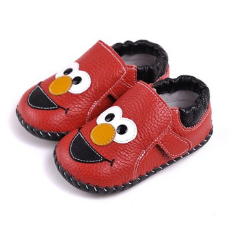 "Caroch ""Elmo"" Red Leather Soft Sole Shoes"