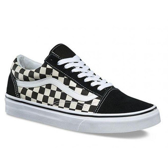 Vans Old Skool Primary Check Black Kids Shoes