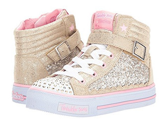 Skechers Twinkle Toes Glitter Girly Light Up Girls High Tops US11 only