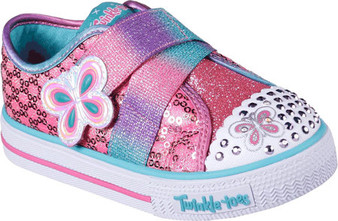Skechers Twinkle Toes Snazzy Skips girls Light Ups US5 only