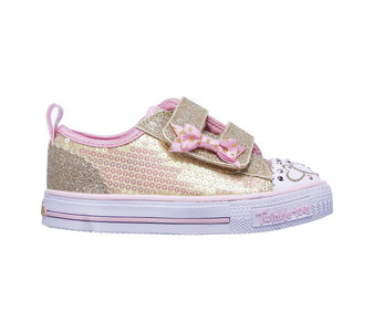 Skechers Twinkle Toes Itsy Bitsy Gold girls Light Ups