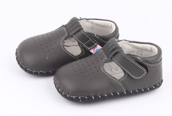 "Freycoo ""Gem"" Grey Soft Sole Leather Shoes"