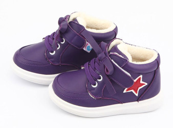 "Freycoo ""Fun"" Purple Leather Hi top Shoes"