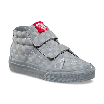 Vans SK8-Mid V Grey Checkerboard Re Issue Kids Shoes