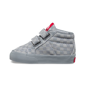 Vans SK8-Mid Grey Checkerboard Re Issue V Toddler Shoes