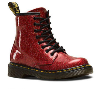 Dr Martens Delaney 1460 Red Multi Glitter Boots
