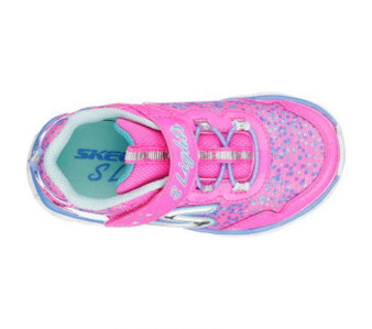 Skechers Galaxy Lights Neon Pink Light Up Toddler Girls Sneakers