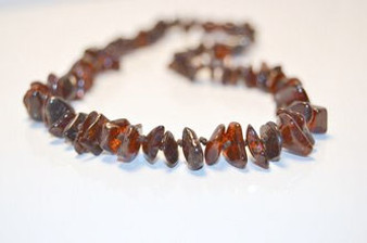 Grace & Favour Baltic Amber Teething 33cm Necklace Polished Cherry Chips