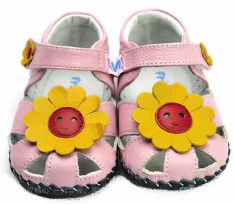 """Freycoo """"Sunflower"""" Pink Soft Sole Leather Shoes"""